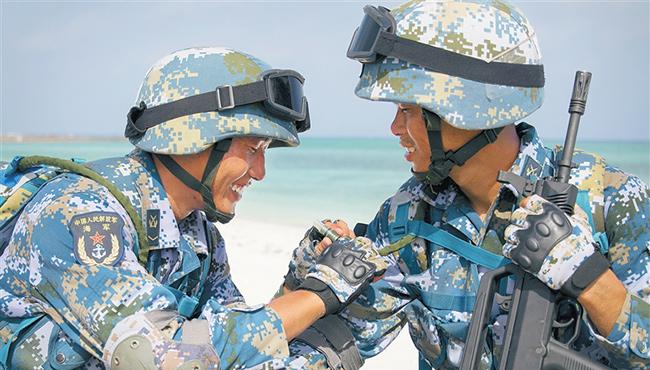 壮丽70年·奋斗新时代 | 走进海军西沙中建岛官兵的五彩世界